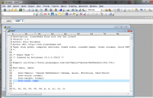 Google Web Fonts - style.css integration