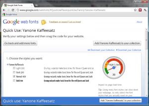 Google Web Fonts - Select Quick Use