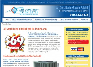 Air Comfort Concepts Raleigh Air Conditioning