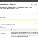 WordPress Admin Notes
