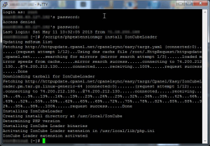 PuTTY - Install IonCube Loader