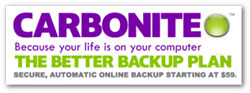 Secure YOUR data now - with Carbonite